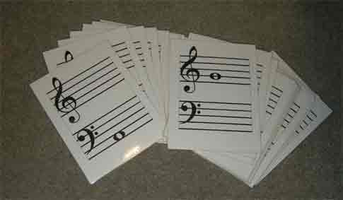 Large Music Flashcards