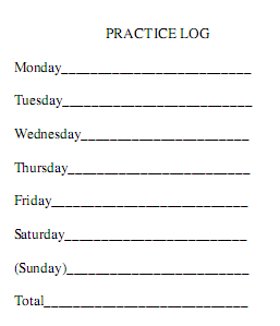 photo about Printable Music Practice Log known as Train season logs - Instruction Kids New music