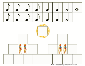 Egyptian Pyramid rhythm printable